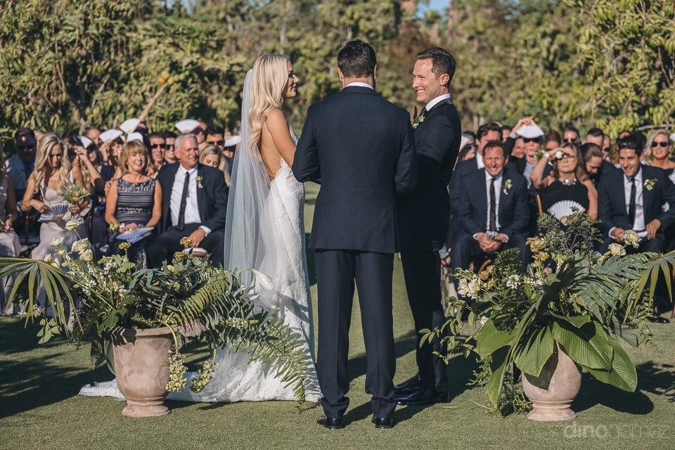 cabo farm wedding ceremony at flora farms photos by dino gomez