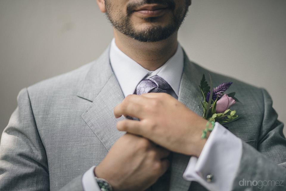 wedding in mexico at hacienda casasano photo of groom by dino go