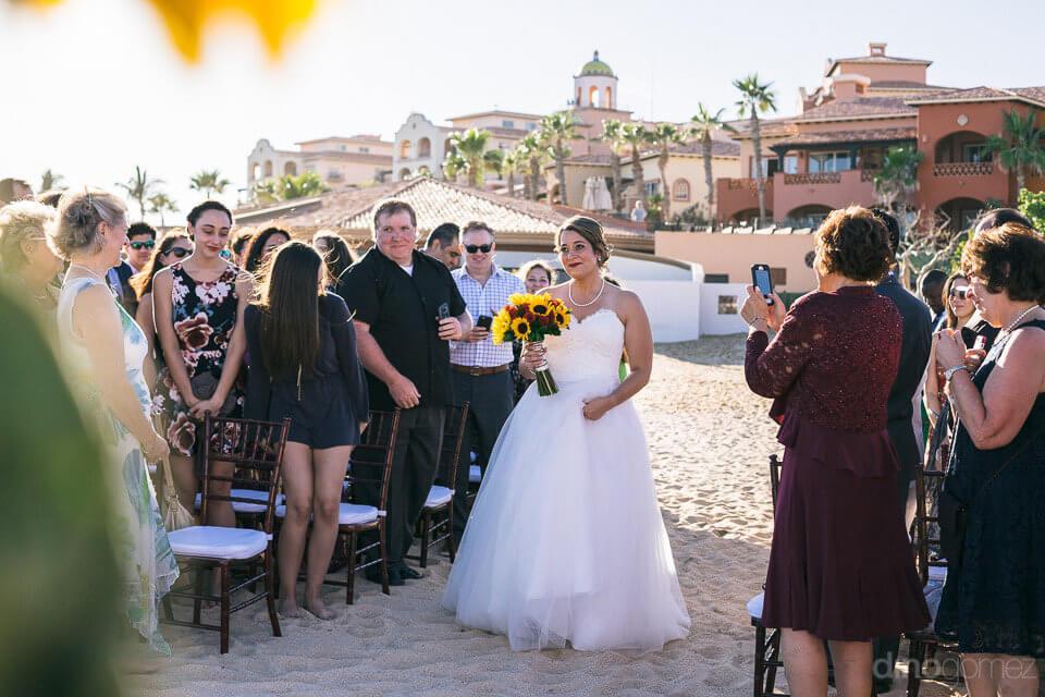 Bride entering the ceremony - Jo & KC's Wedding in Cabo